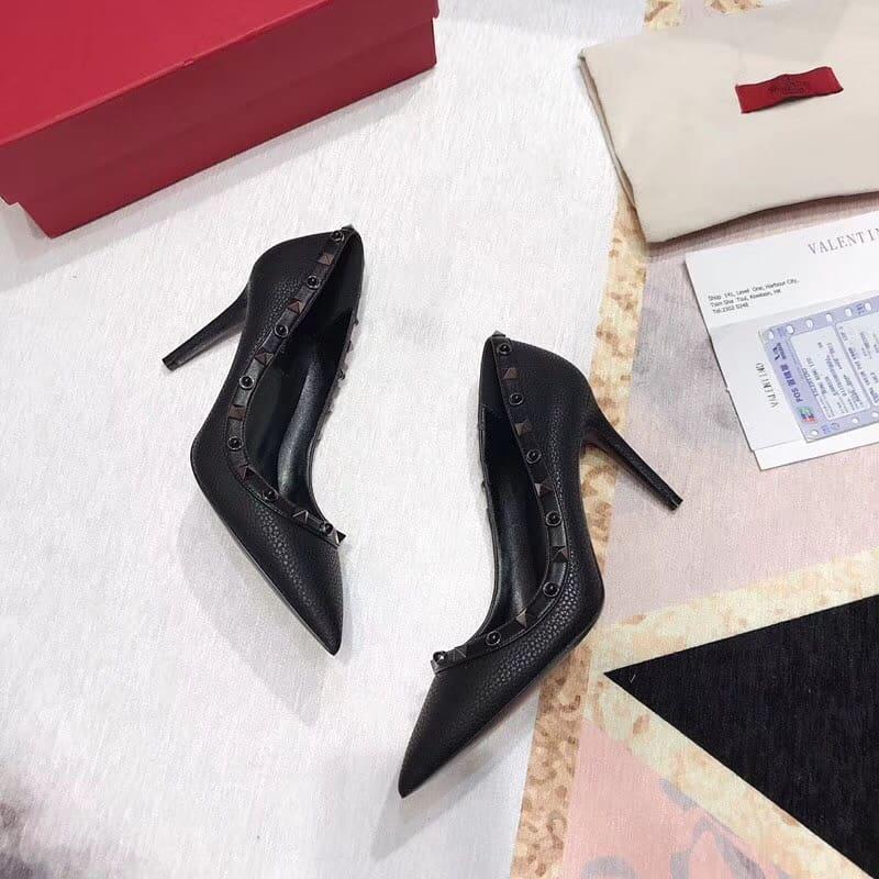 pantofi-cu-toc-piele-negri